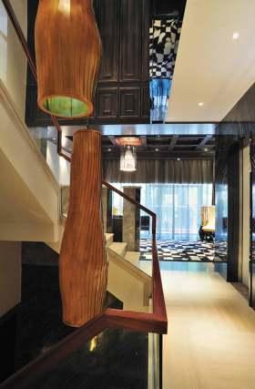 时尚新古典风格楼梯间装潢
