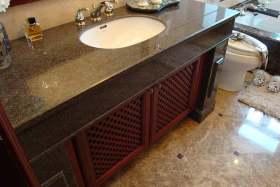 中式新古典风格卫生间浴柜设计