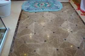 新古典风格卫浴地面设计图