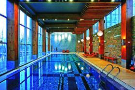休闲舒适现代别墅游泳池设计图