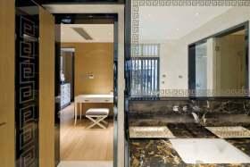 现代时尚卫生间隔断装潢设计