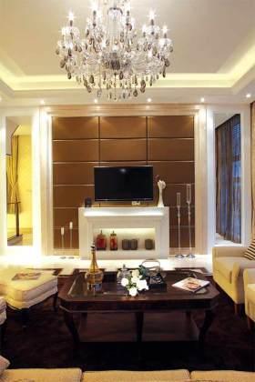 典雅大气简欧风格电视背景墙设计