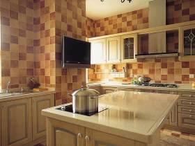 清新美式乡村风厨房装修设计