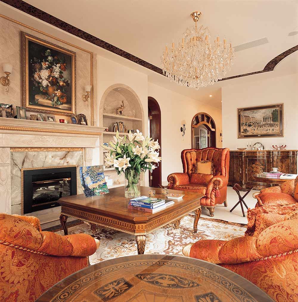 2016高贵奢华欧式风格客厅布置装修