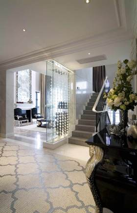 浪漫雅致新古典主义楼梯环境设计效果图