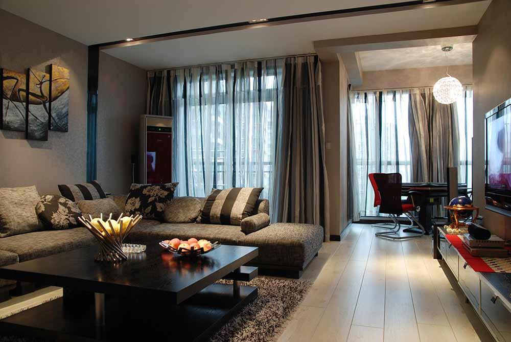 素净高雅现代风格客厅装修布置