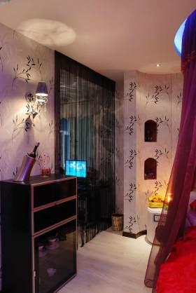 浪漫紫色系现代风格卧室局部装修