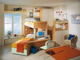 温馨自然简约风儿童房整体设计效果图