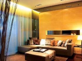 高端时尚现代商务风客厅装修布置