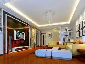 古典时尚混搭风格客厅装潢效果图片