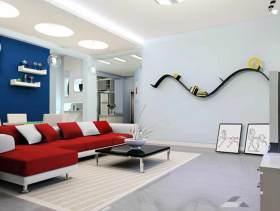 创意时尚现代风格客厅装修效果图