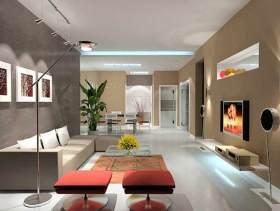 低调时尚现代风格客厅设计图片