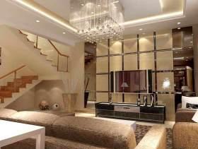 米色大气时尚现代风格客厅装潢
