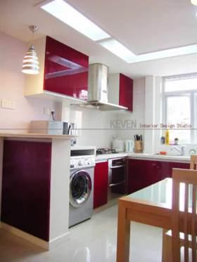 2016红色现代风格厨房装潢