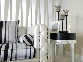 黑白经典时尚简欧风客厅装修局部图