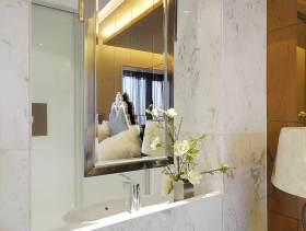 清新时尚简约风格卫生间洗手台设计装潢