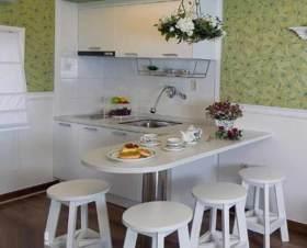 温馨田园风格小户型厨房装修方案