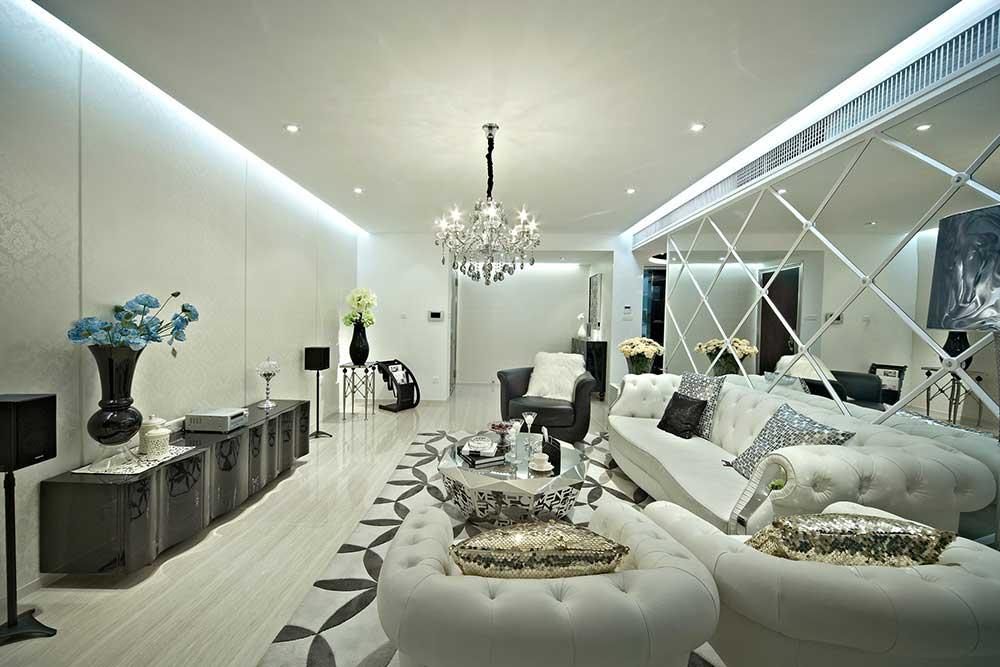时尚华丽欧式风格精美客厅整体展示