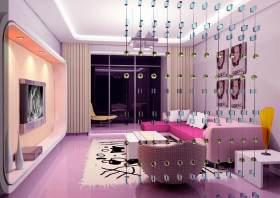现代时尚浪漫客厅设计装修
