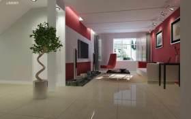 粉色温馨现代风格客厅装潢