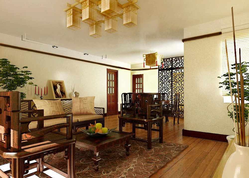 原木风精致美式风格客厅装潢