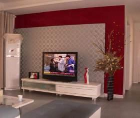 经典时尚现代风格电视背景墙设计