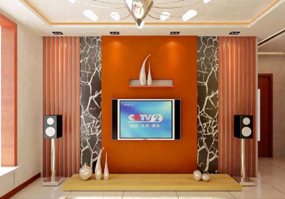 唯美时尚现代风格电视背景墙展示