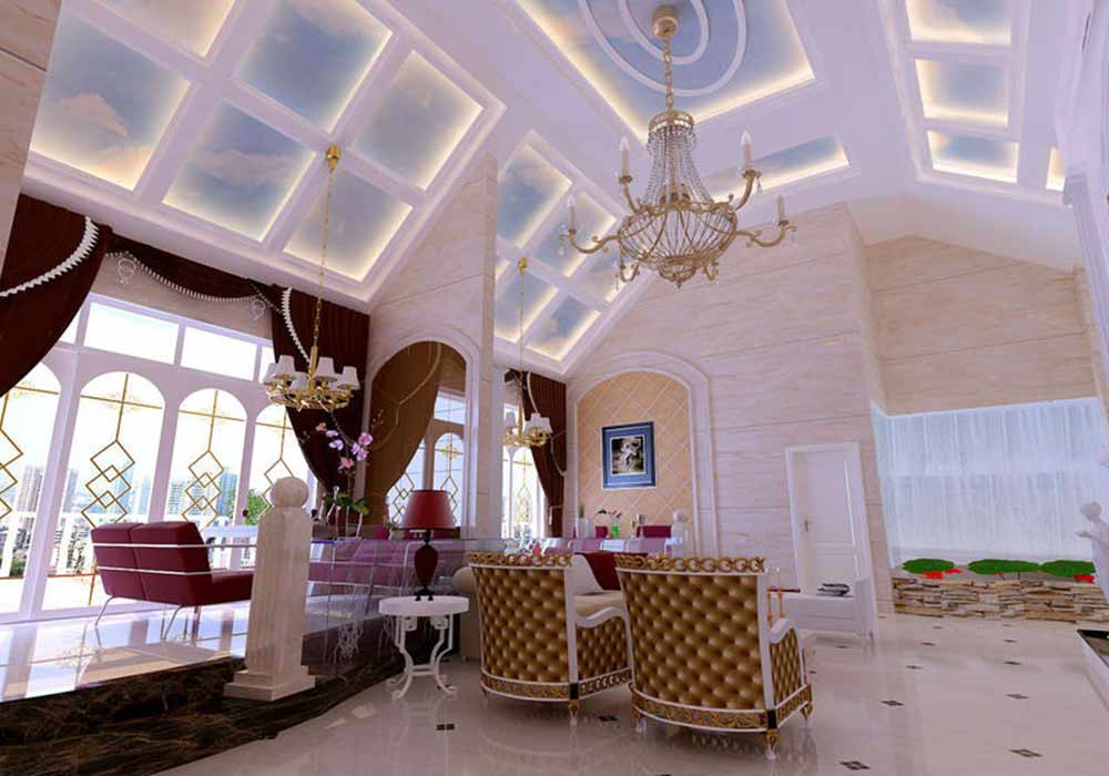 精致欧式大气华丽设计别墅客厅装潢
