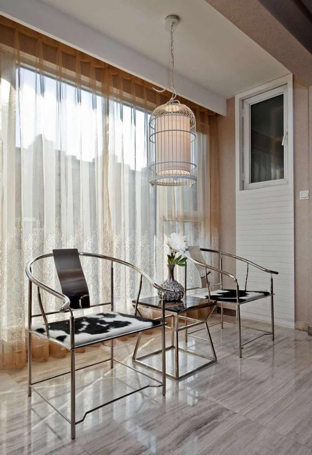 金属质感新古典风格休闲区装修设计