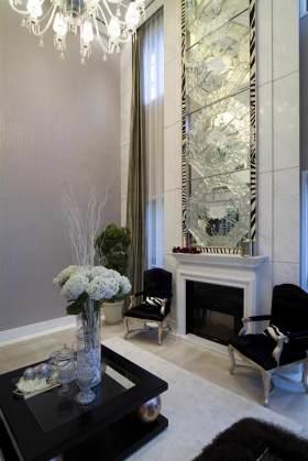 精美时尚现代风格客厅背景墙设计