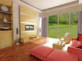 清新现代粉色浪漫客厅设计