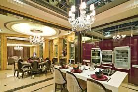 新古典优雅时尚厨房吧台设计