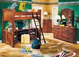 美式休闲舒适儿童房装潢