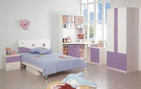 现代简洁清新儿童房装修效果图