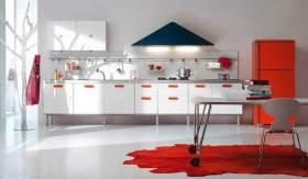 现代时尚简洁厨房布置欣赏