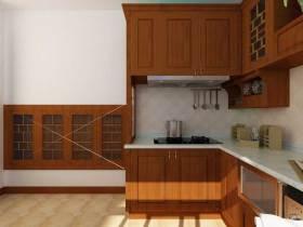现代中式质朴厨房装修案例