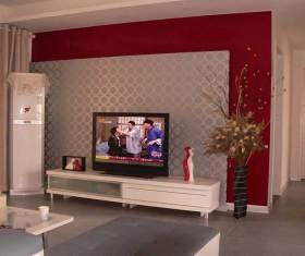 现代简洁舒适电视背景墙设计规划