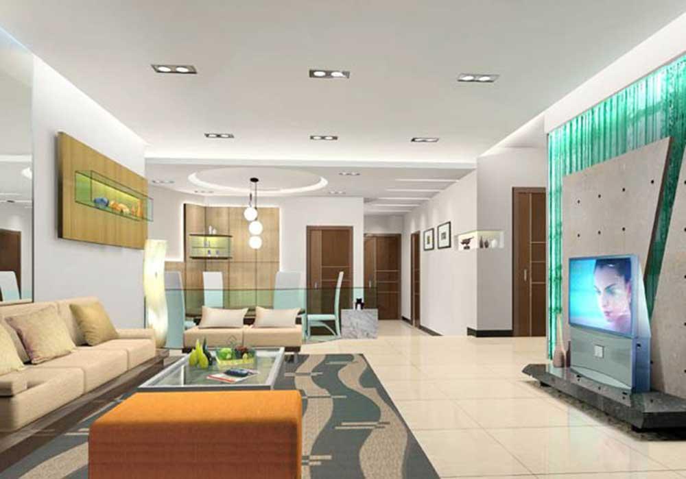 2016时尚暖色现代客厅装修效果图