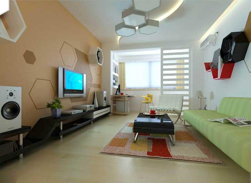 可爱清爽现代风家庭客厅装修