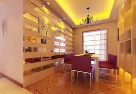 温馨紫色系简欧风格餐厅装潢美图