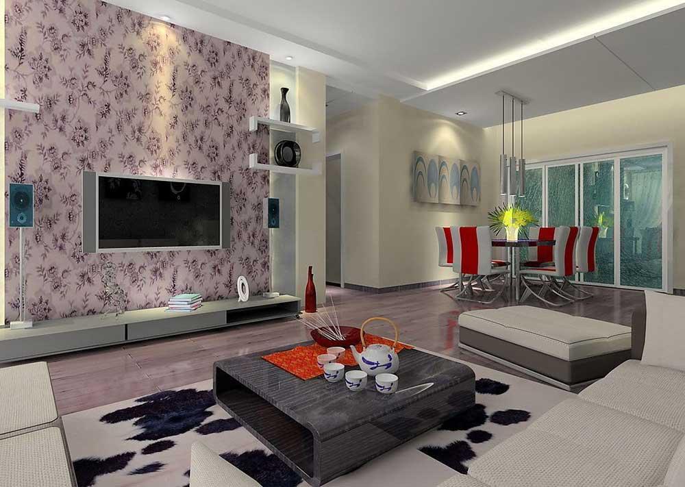 个性时尚温馨现代风格客厅设计图