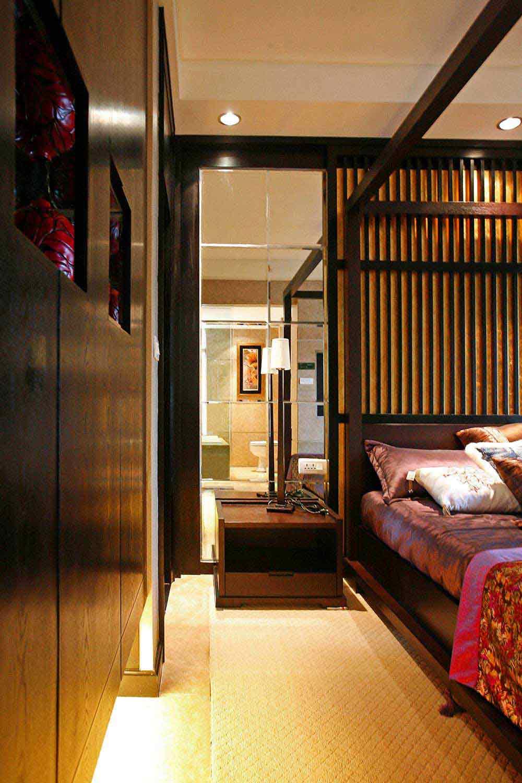 沉稳红木风格新中式风格卧室装潢