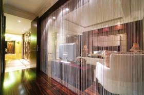 唯美创意现代风格客厅隔断设计
