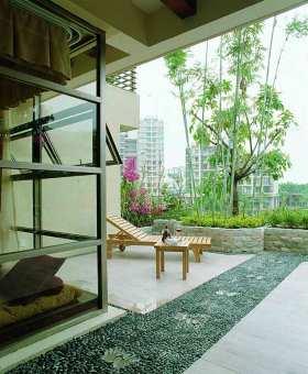 清新自然现代风格室外休闲区设计