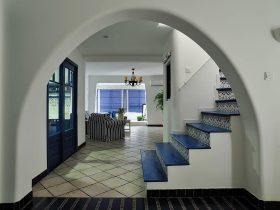 时尚地中海清爽楼梯过道设计