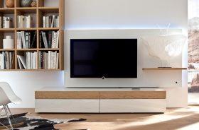 轻盈素雅现代简约风格电视背景墙设计