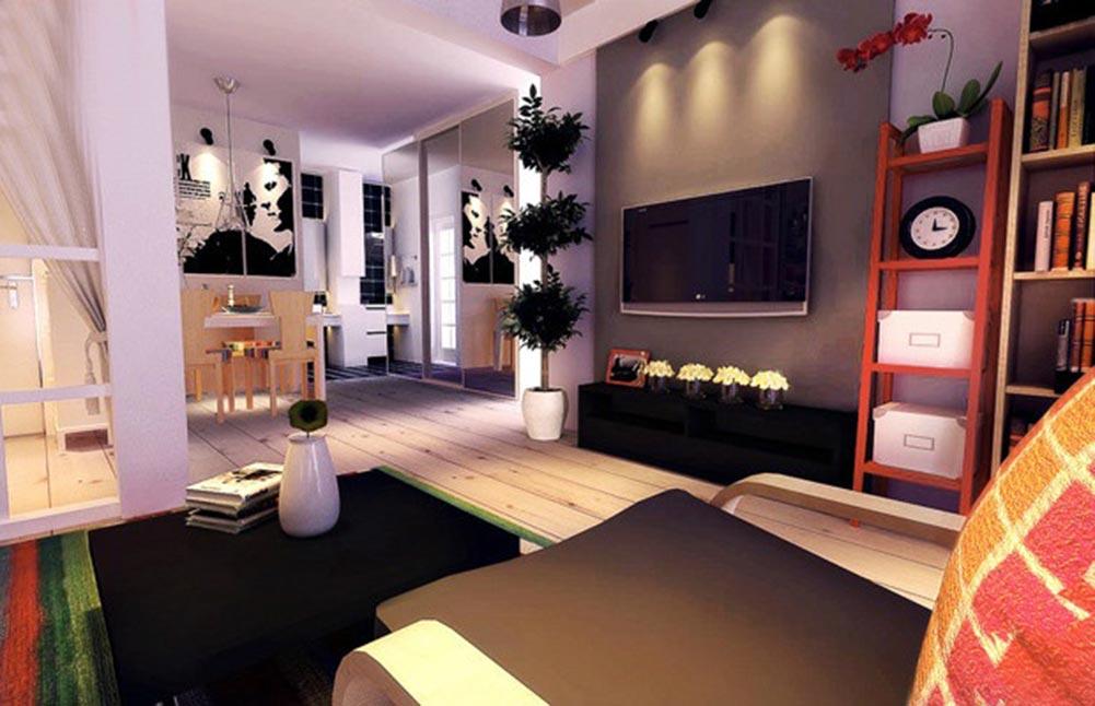 温馨创意时尚现代风格客厅设计图