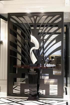 精美镂空雕花现代风格隔断设计