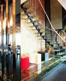 摩登混搭风格楼梯设计装修