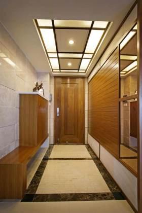 沉稳大方中国风中式门厅设计